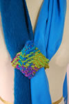 Felted bag with woven Loom Bloom