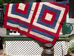 Vintage wool throw, woven on standard loom