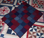 Sampler made of wool