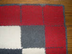 Detail of vintage wool throw, woven on standard loom