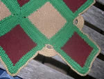 Detail of Squares Used in Afghan